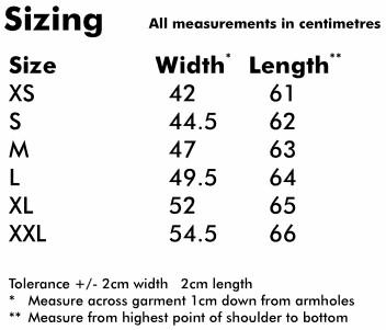 Ladies Polo size info