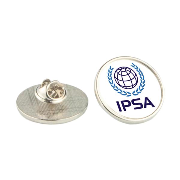 Silver lapel badge